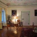 Kleiner Kapitelsaal mit Rokokodecke und barocker Einrichtung. © Josef Sturm