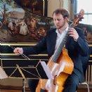 Sonntagskonzert am 27. April 2014: Hannah Vinzens (Violoncello), Wolfgang Brunner (Cembalo), Jacob David Rattinger (Viola da Gamba).