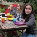 Jungscharlager 2014: Beim Frühstück