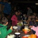 Jungscharlager 2014: Frühstück im Stadl