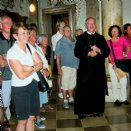 Kirchenführung in Weltenburg durch Abt Freihart © Freunde d.Stiftes/privat