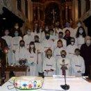 Ministrantenaufnahme - Gruppenfoto mit Masken © Pfarre Mattsee